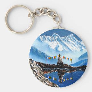 Panorama van Annapurna Berg Nepal Sleutelhanger