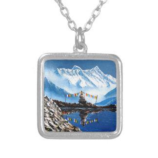 Panorama van Annapurna Berg Nepal Zilver Vergulden Ketting