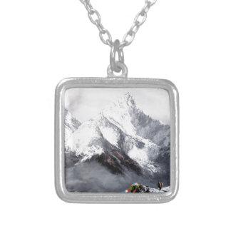Panorama van Berg Everest Zilver Vergulden Ketting