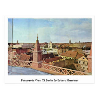 Panorama van Berlijn door Eduard Gaertner Briefkaart