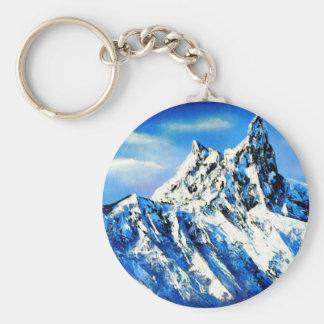 Panorama van de Piek van de Berg Everest Sleutelhanger