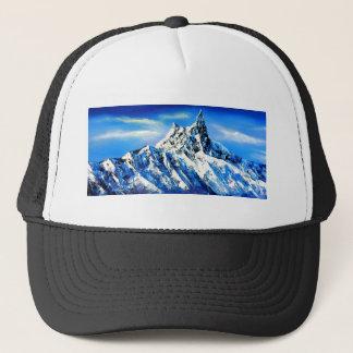 Panorama van de Piek van de Berg Everest Trucker Pet