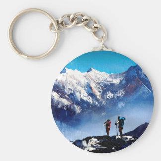 Panorama van de PiekBerg Everest van Ama Dablam Sleutelhanger