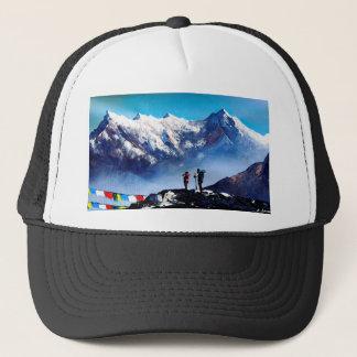 Panorama van de PiekBerg Everest van Ama Dablam Trucker Pet