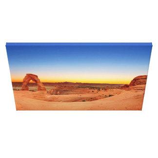 Panorama van Gevoelige Boog in Bogen NP Canvas Afdruk