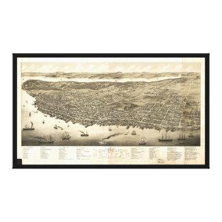 Panorama van Halifax, Nova Scotia, Canada (1879) Canvas Print