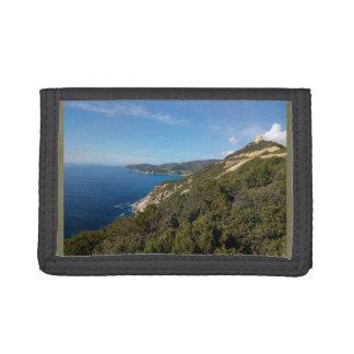 Panorama van het zee van Sardinige Drievoud Portemonnee