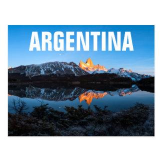 Panorama van Meer Capri, Patagonië Briefkaart