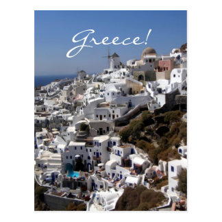 Panorama van Oia, Griekenland Briefkaart