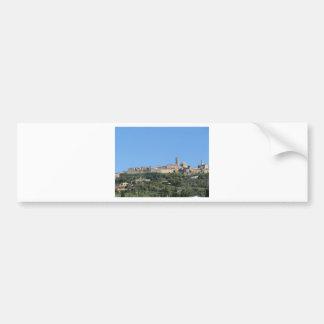 Panorama van Volterra dorp, provincie van Pisa Bumpersticker