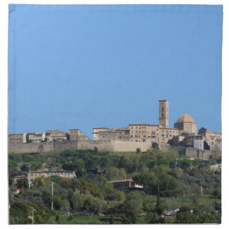 Panorama van Volterra dorp, provincie van Pisa Katoenen Servet