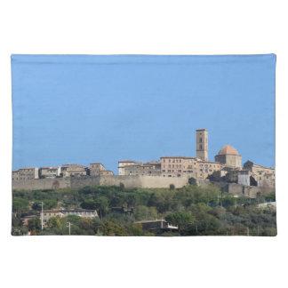 Panorama van Volterra dorp, provincie van Pisa Placemat