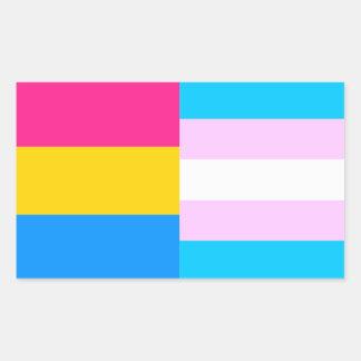 Pansexual/trans de sticker van trotsvlaggen