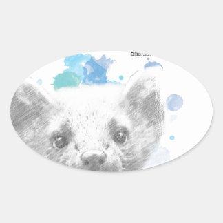 Pantalaimon, Daemon van Lyra van Zijn Donkere Ovale Sticker