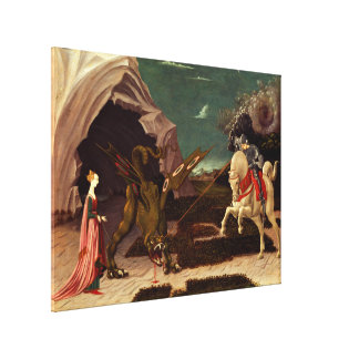 PAOLO UCCELLO - Heilige George en draak 1470 Canvas Print
