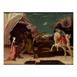 PAOLO UCCELLO - Heilige George en draak 1470 Poster