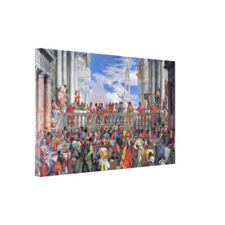 Paolo Veronese - het Huwelijk in Cana Canvas Afdrukken