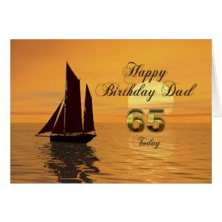 Papa, de 65ste kaart van de het jachtverjaardag