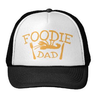 Papa FOODIE met zeekreeft en bord Trucker Cap