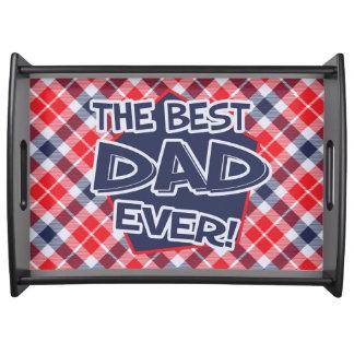 Papa, het Grote Dienende Zwarte Dienblad van het