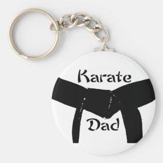 Papa Keychain van de Karate van het Zwarte band Sleutelhanger