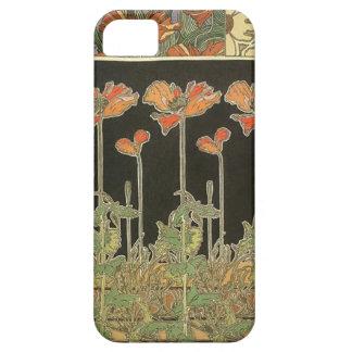 Papavers van de Jugendstil van Alphonse Mucha Barely There iPhone 5 Hoesje