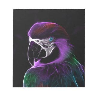 papegaai fractal ontwerpwaaier notitieblok