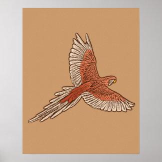 Papegaai tijdens de vlucht, Tan van de Roest, van Poster
