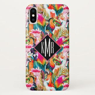 Papegaaien & Palmbladen | Monogram iPhone X Hoesje