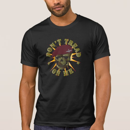 Parachute Regiment Skull Don't Tread On Me T Shirt