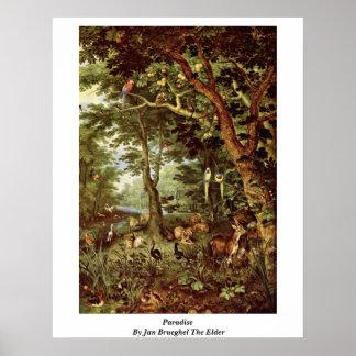 Paradijs door Jan Brueghel Ouder Poster