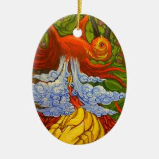 Paradijsvogel Keramisch Ovaal Ornament