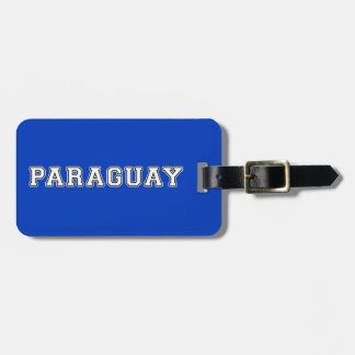 Paraguay Kofferlabel