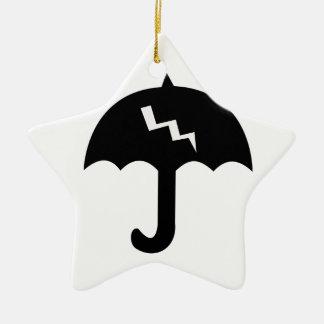 paraplu en verlichting keramisch ster ornament