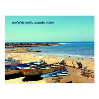Parel van de Stille Oceaan, de Boten van Mazatlan Briefkaart