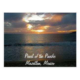 Parel van de Vreedzame Zonsondergang van Mazatlan Briefkaart