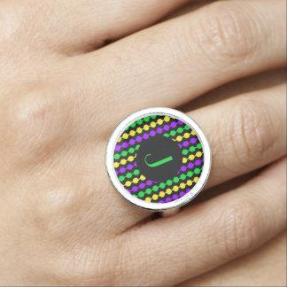 Parels van Mardi Gras van het monogram de Groene Ring