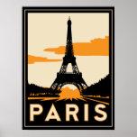 Parijs art deco retro poster