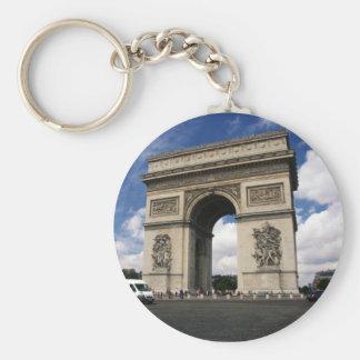 Parijs Basic Ronde Button Sleutelhanger