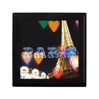 Parijs de lichten van neonharten decoratiedoosje