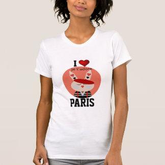 Parijs - de Liefde Parijs van I - je t'adore T Shirt