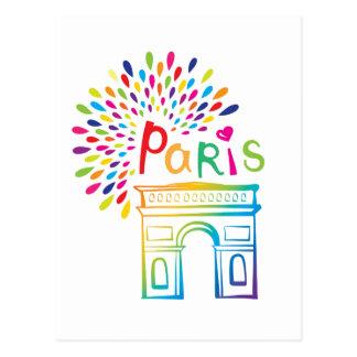 Parijs Frankrijk   Arc DE Triomphe   Ontwerp van Briefkaart