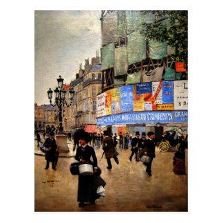 Parijs, het kunstwerk van Rue du Havre Briefkaart