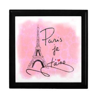 Parijs I houdt van u Roze PXLY Decoratiedoosje