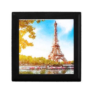 Parijs in de herfst decoratiedoosje
