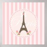 Parijs in de Lente Girly Plaat