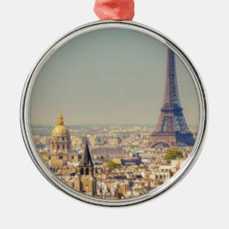 Parijs-in-één-dag-bezienswaardigheden Zilverkleurig Rond Ornament