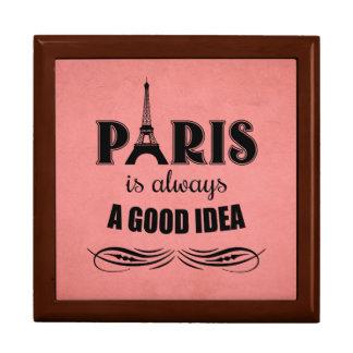 Parijs is altijd een goed idee decoratiedoosje