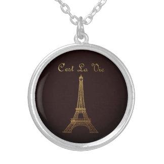 Parijs: La Vie van C'est Zilver Vergulden Ketting