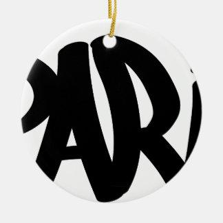 Parijs-label Rond Keramisch Ornament
